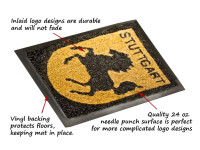 traffic lite inlay logo mat