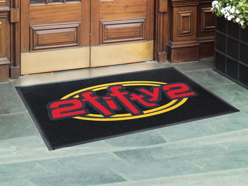 high traffic mat with logo